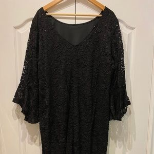 Laura Plus Size 22W Evening Dress in Black